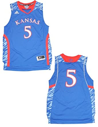 NCAA Kansas Jayhawks #5 Youth Pro Quality Athletic Jersey Top by NCAA