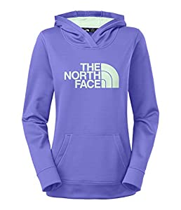 Women's The North Face Fave Pullover Hoodie Starry Purple/Surf Green Size X-Large