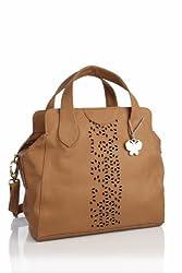 Butterflies Womens Shoulder Bag (Brown)(BNS 0456)
