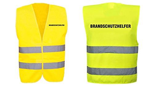 Warnweste-gelb-mit-Text-bedruckt-Rckendruck-Brustdruck-Sicherheitsweste-EN-ISO-20471-Brandschutzhelfer