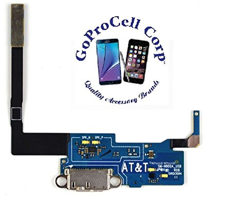 GOPROCELL(TM) NEW USB Charger Charging Port Dock Connector Flex Cable Replacement for Samsung Galaxy Note 3 ( N900A att at&t ) (Galaxy Note 3 At T compare prices)