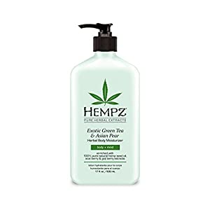 Hempz Exotic Herbal Body Moisturizer, Light Green, Exotic Green Tea/Asian Pear, 17 Fluid Ounce