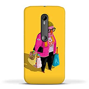 FUNKYLICIOUS Moto G3 Back Cover Greetings from Hungary Design (Multicolour)