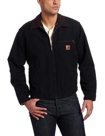 Carhartt Men's Big & Tall Sandstone Detroit Jacket, Black, Large Tall