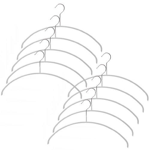 (マワハンガー)MAWA すべらないハンガー 3120 Economic/P エコノミックハンガー 40cm トップス用 06 ホワイト 10本セット [並行輸入品]