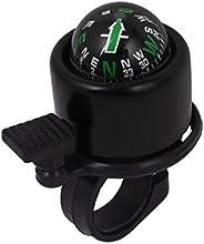 Bike Bicycle Cycling Handlebar Compass Ring Bell Alarm Black