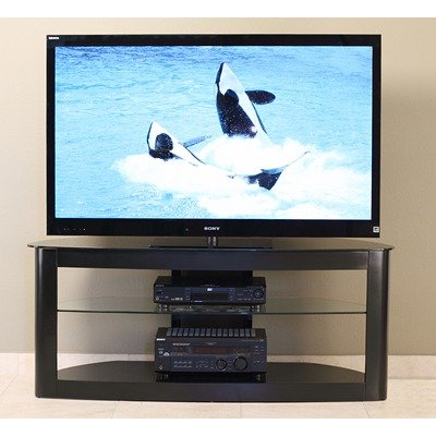 Cheap 55″ Flat Panel TV Stand in Black (TD610B)