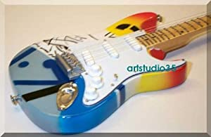 ERIC CLAPTON Miniature Mini Guitar Crash by ARTSTUDIO35