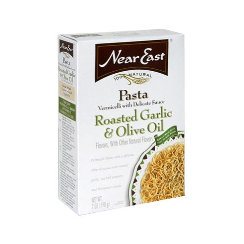 Near East Roasted Garlic & Olive Oil Vermicelli Pasta Mix, 7-Ounce Boxes (Pack of 12)