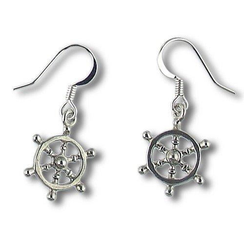 Anchor's Away: Nautical Ship's Wheel Charm Earrings