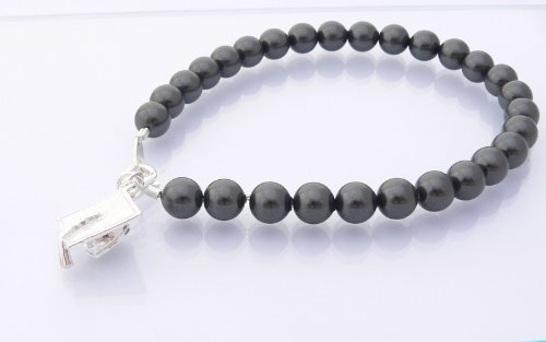 Mortar Board Girls Graduation Gift Bracelet