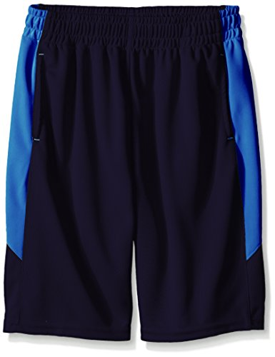 New Balance Kids Big Boys Performance Short With Contrast Side Panels, Abyss/Sonar, 8
