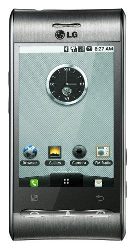 LG GT540 Optimus Smartphone (7,6 cm (3 Zoll) Display, Touchscreen, 3 Megapixel Kamera) silber