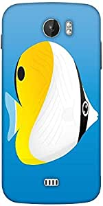Snoogg A Vector Illustration Of A Yellow Designer Protective Back Case Cover For Micromax A110