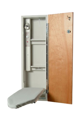 Iron-A-Way A421AU A-42 Ironing Center with Swivel Board, Birch