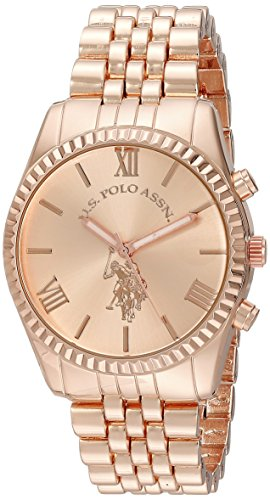 U.S. Polo Assn. Women's USC40060 Analog Display Analog Quartz Rose Gold-Tone Watch