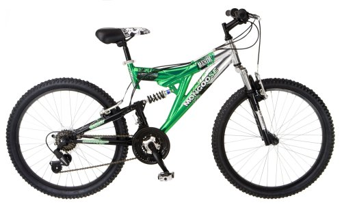 Mongoose Maxim Dual-Suspension Mountain Bike (24-Inch Wheels, Green)