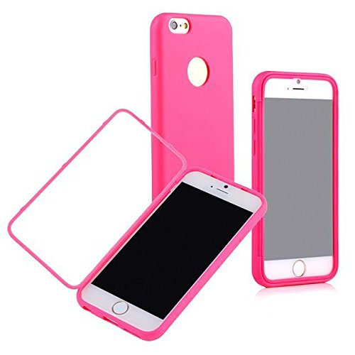 Queens@ Scratch Resistant Flip Case Cover For Apple Iphone 6 4.7-Inch Screen, Full Scratch Protection And Hybrid Crystal Clear Front Anti-Scratch Clearly Stylus Slim Fit Screen Protector, Smooth Tpu Back Shel Shock-Absorption Bumper Premium Cover Case For