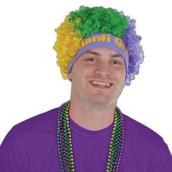 Beistle 60274 Mardi Gras Wig