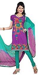 Vatsal Silk Mills Women Cotton Dress Material (Lavika-2103 _Purple)