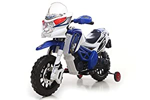 Kids' Ride On Battery Powered - 6V Motocross Bike, Blue, Batterie 6V enfants alimentés au vélo de motocross, Bleu