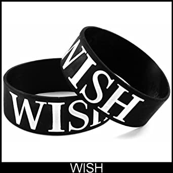 Wish Designer Rubber Saying Bracelet #27