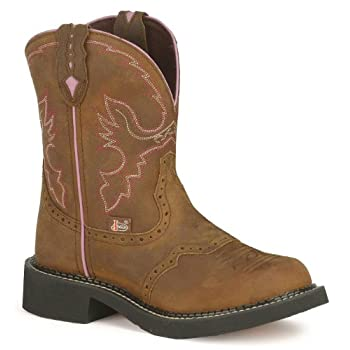 From the Justin Gypsy Cowgirl Collection comes this aged bark color Gypsy boot. A sassy boot designed for your riding pleasure Boot features an 8