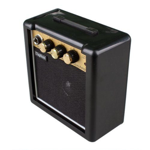 Portable Digital Audio 3W Electronic Guitar Bass Speaker Power Amplifier W/ Headphone