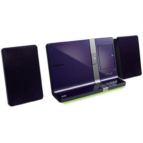JVC VJ5 iPod iPhone iPad Speaker Dock 30W CD USB MP3 Violet