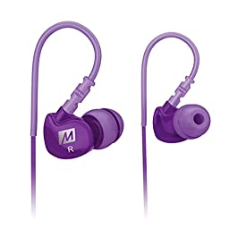 MEE audio Sport-Fi M6 Noise Isolating In-Ear Headphones with Memory Wire (Purple)