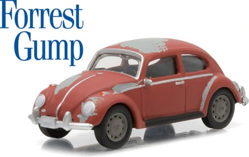 New 1:64 Hollywood Series 12 Collection - FORREST GUMP - RED VOLKSWAGEN CLASSIC BEETLE Diecast Model Car By Greenlight (Volkswagen Beetle Tires compare prices)