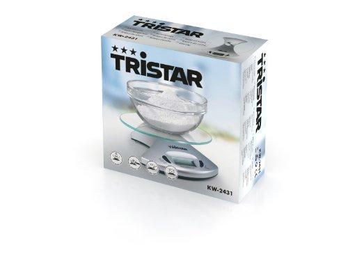 Tristar - Balance de cuisine avec plateau en verre - Pesée de 1gr à 5kg - Modèle KW 2431