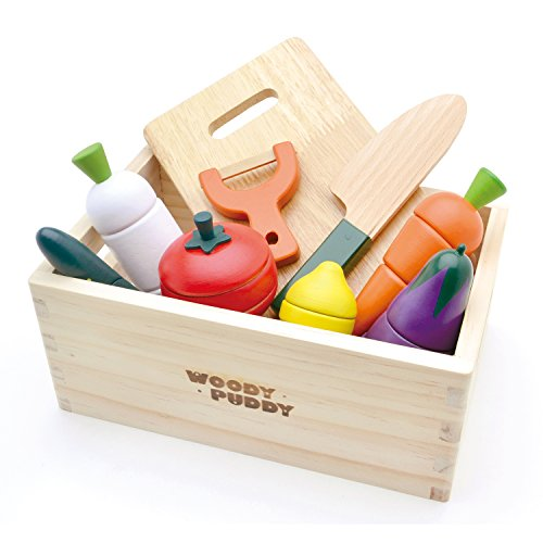 First Playing house Salad set (with Wooden box) G05-1139