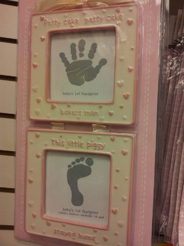 Ceramic Hand and Foot Print Frames - Pink