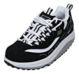 Ladies Skechers Shape-Ups Black White Lace Up Fitness Toning Trainers Sport Shoe