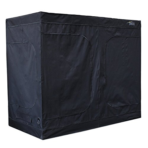 iPower GLTENTXL1 Mylar Hydroponic Grow Tent for Indoor Seedling Plant Growing w/ Metal Push-Lock Corners, 96 by 48 by 80-Inch, Water-Resistant. Removable Mylar Floor Tray Included (Tent Heater Indoor compare prices)