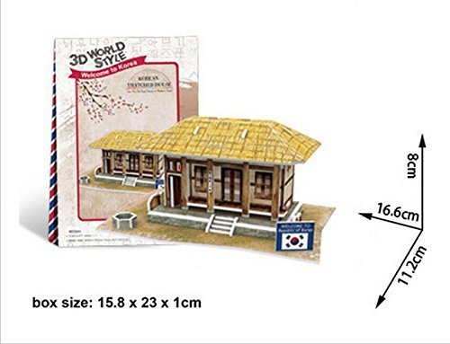 Cubicfun Cubic Fun 3d Puzzle Model 35pcs Korean Thatched House