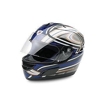 Bottari Moto 64218 Casque Dragon, Noir/Bleu, Taille : M