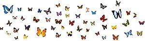 Tangda Removible Pegatina Adhesiva Para Pared Mariposas Multicolores DIY Decoración Cristal Ventana Puerta Dormitorio Habitación Arte Mural Wall Sticker 30*45cm marca Tangda