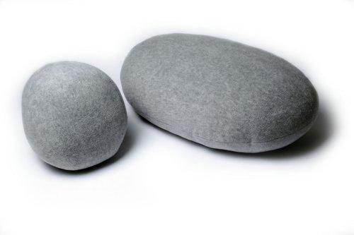 Hellgrau, lebende Steine, Kissen, dekorative Kissen, kreative Kiesel Kissen, einzigartige Kiesel Kissen (2ST/Set 4#, # 6)