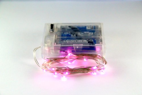Pink String Lights Battery Operated : >>>Cyber Monday and Black Friday Rtgs Micro LED 20 Pink Color Lights Battery Operated on 7ft ...