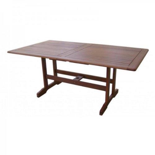 Massiver Gartentisch, Ausziehtisch 180-240cm aus hochwertigem Bankirai Hartholz, geölt online kaufen
