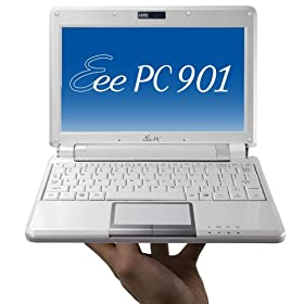 picture of an Asus EEE PC 901 Linux netbook