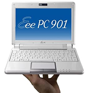ASUS Eee PC 901 8.9-Inch Netbook (1.6 GHz Intel Atom N270 Processor, 1 GB RAM, 20 GB Solid State Drive, 20 GB Eee Storage, Linux, 6 Cell Battery) Pearl White