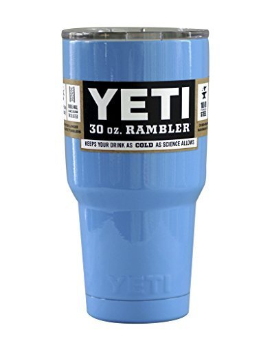 Yeti Blue 30 oz Rambler Tumbler Stainless Steel Cup with Lid - Keeps your drink hot or cold