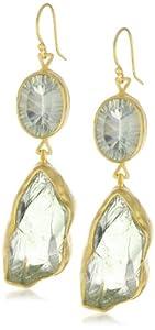 """Heather Benjamin """"Elegant Earth"""" Double Green Garnet Earrings"""