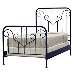 Outer Banks Wrought Iron Headboard Finish: White, Size: Twin from John Boyd Designs