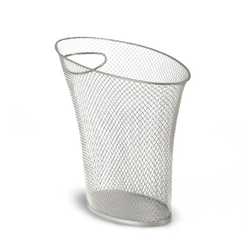 Umbra Skinny Metal Mesh Waste Bin, Nickel (Nickel Trash Can compare prices)