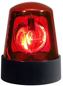 "Visual Effect 7"" Police Beacon Light for Parties & DJs - Red"