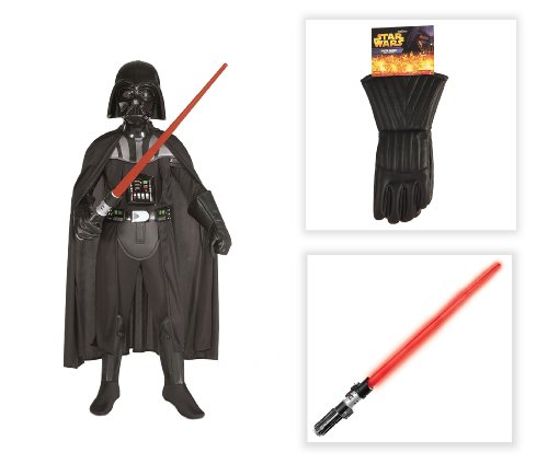 Star Wars Darth Vader Deluxe Child Costume with Lightsaber and Gloves - Small